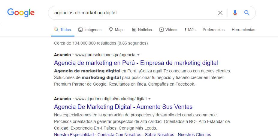 posicionar tu negocio en Google usando anuncios de pago - SEM